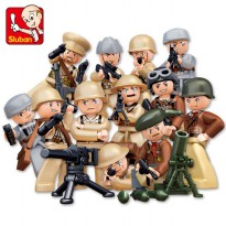 Murah - Blok Lego Edukasi Sluban World War II Mini Figures (M38-B0580)