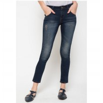 DocDenim Ladies Elvida Ripped Jeans - Biru