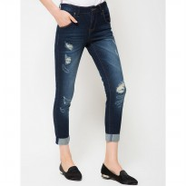 DocDenim Ladies Melly Ripped RU Jeans - Biru