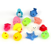 13pcs Different Squeaky Floating Animals Ocean Rubber Baby Bath Bathing Toys|ZL14200