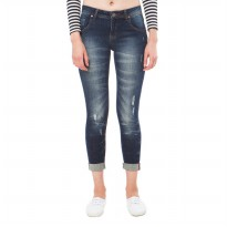 People's Denim Women Karina Rolled Up Jeans - Biru