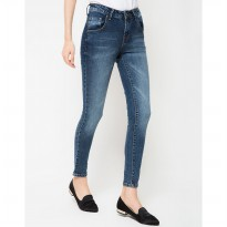 People's Denim Women Nazeline Jeans - Biru