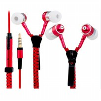 Zipper Earphones Stainless with Superior Bass | Headset Zip Ritsleting Megabass | free bumper case