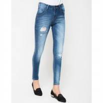 People's Denim Women Narnia Ripped Jeans - Biru