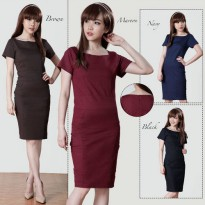 Oana Plain Katun Stretch Mini Dress