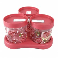 Atria Elianware Round Canister [ Toples ] Set 3 pcs