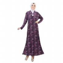 Jfashion Long Dress Gamis Maxi Krah Kimono Variasi Bross - Marisa