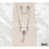 Set Perhiasan Anting dan Kalung Pre Wedding Party Pesta Fashion - S003