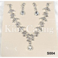 Set Perhiasan Anting dan Kalung Pre Wedding Party Pesta Fashion - S004