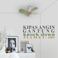 EELIC JM-380 Kipas Angin Gantung 33 Cm 18Watt Mini Fan Arus Angin Kuat