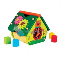 Oops The Happy House! Multi-Activity Wooden House Color Full Age 1YR+
