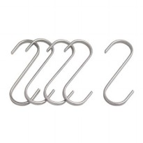 IKEA GRUNDTAL Hook S / Pengait S - Stainless, 11 cm, 5pcs