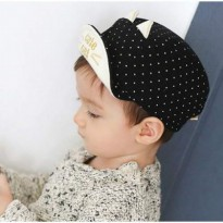 [AKSESORIS ANAK] 01F5C8r Dotears Decorated Pure Color Design Childrens Hats Jrk Black