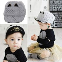 AKSESORIS ANAK 01F5C9r Dotears Decorated Pure Color Design Childrens Hats Jrk Gray