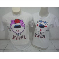 Kaos Couple / Baju Pasangan / Soulmate You Make Me happy You Make smile Putih