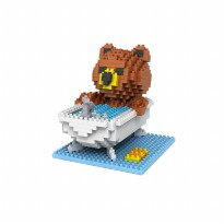 LOZ 9429 GIFT LARGE BROWN BEAR BATHING