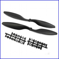 Black 1045 Propeller 10x4.5 CW CCW 1 Pair for Multicopter Quadcopter