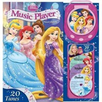 Disney Princess Music Player Storybook with 20 Tunes (Portable Music Player & 4 CDs)