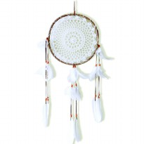 Prissilia Dream Catcher - Large Brown White