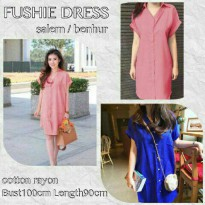 FUSHIE DRESS BAHAN KATUN RAYON FIT TO XL