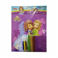 MM Stickers DISNEY 3D EVA PAINTING STICKERS SOFIA DL-EP007