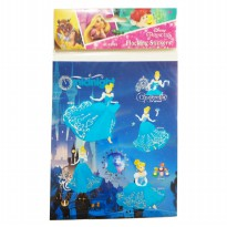 MM Stickers DISNEY 3D FLOCKING STICKERS PRINCESS DL-FS002