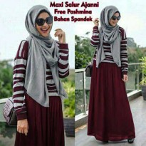Maxi Ayu Set 2in1 Maroon