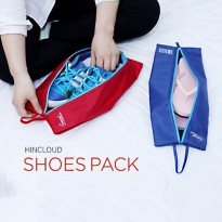 Water proof Fold Travel Portable Non-woven Pouches Shoes MERAH