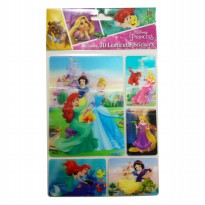 MM Stickers DISNEY 3D LENTICULAR STICKERS PRINCESS DL-LS002