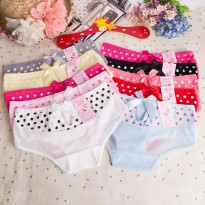 Japan Style Sexy Polkadot Cotton Brief Mini Panties Celana Dalam Seksi