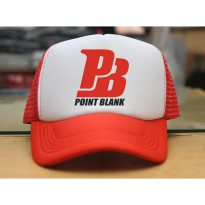 JersiClothing Topi Trucker Point Blank - Merah Putih