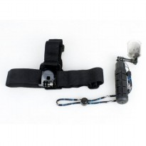 TMC Head Belt Strap and Grenade Monopod Grip Set for GoPro 3/3+/4 & Xiaomi Yi - EBL017 - Black