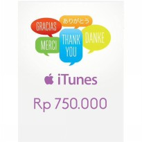 Itunes Gift Card Indonesia 750rb / IGC INDO 750K