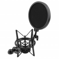Shockproof Mount dengan Pop Filter - Holder Mikrofon