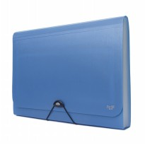 Bantex Expanding File With Zipper Pocket Folio Cobalt Blue #3602 11