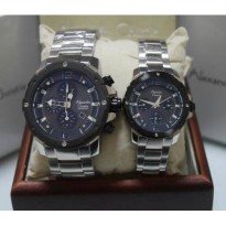 Alexandre Christie AC6410 Black Silver Couple