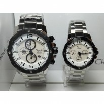 Alexandre Christie Ac 6410 Silver Putih Stainless Couple