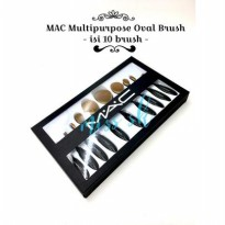[ isi 10 kuas ] MAC Oval Brush Set / Multi Purpose Brush Set Isi 10
