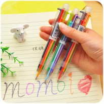 Pena Ballpoint Multi Warna 6 in 1 - Multi-Color
