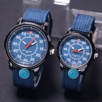 [Swiss Army] Jam Tangan Couple Canvas Harga Sepasang