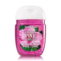 POCKETBAC HAWAIIAN PINK HIBISCUS ANTI BACTERIAL HAND GEL 29ML + HOLDER