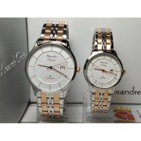 Jam Tangan Couple Alexandre Christie Ac8472mdld Classic Silver Rose
