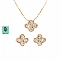 BE.JUU Kalung Wind Flower Set Korean Jewelry