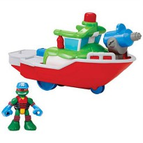 [holiczone] Teenage Mutant Ninja Turtles Pre-Cool Half Shell Heroes Fire Boat with Captain/1845924