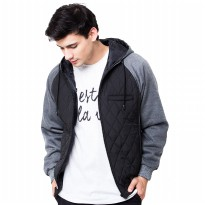 Evio Quilted Bomber 125 Jacket - Hitam