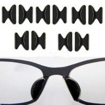 Useful 5Pairs Soft Non-slip Silicone Nose Pad For Glasses Eyeglasses Sunglass Color:Size B Black