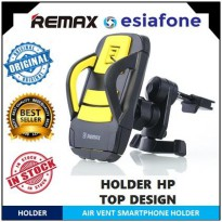 [esiafone smart buy] REMAX Air Vent Smartphone Holder - RM-C03 - Black/Hitam Kombinasi