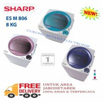 SHARP ESM-806 Mesin Cuci Top Load 8Kg-Promo