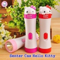 SENTER TANGAN LAMPU LED CAS HELLO KITTY RECHARGEABLE FLASH LIGHT