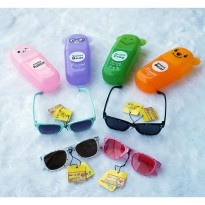 ~Cutevina~ Cute Kid Fashion Sunglasses + Case (140402I) Kacamata Fashion anak